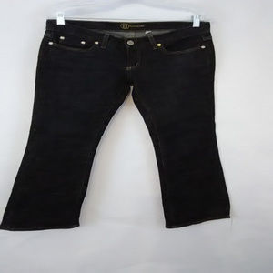 Bebe Carmen Size 29 Lowrise Dark Wash Blue Jeans
